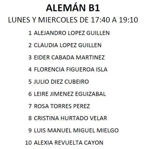 ALEMAN B1